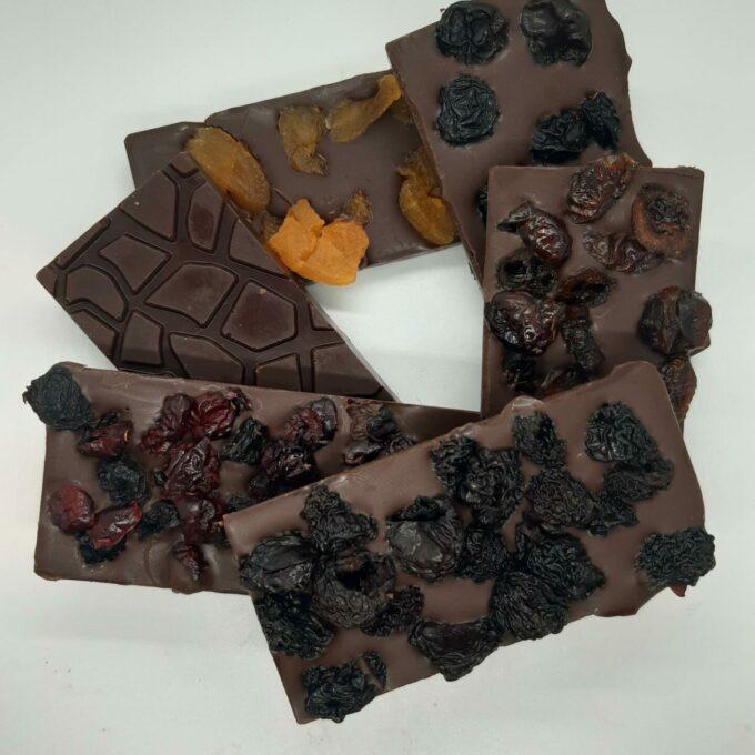 Raw Chocolate Fruit and Honey Bars